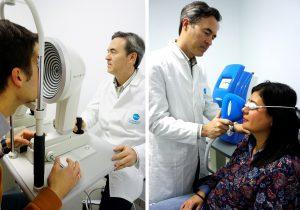 Dr. Manuel Camacho diagnosticando Ojo Seco con Keratograph 5M y aplicando tratamiento con ThermaEye para el ojo seco.